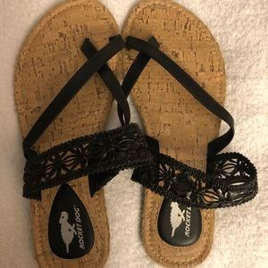 Black Rocket Dog Sandals